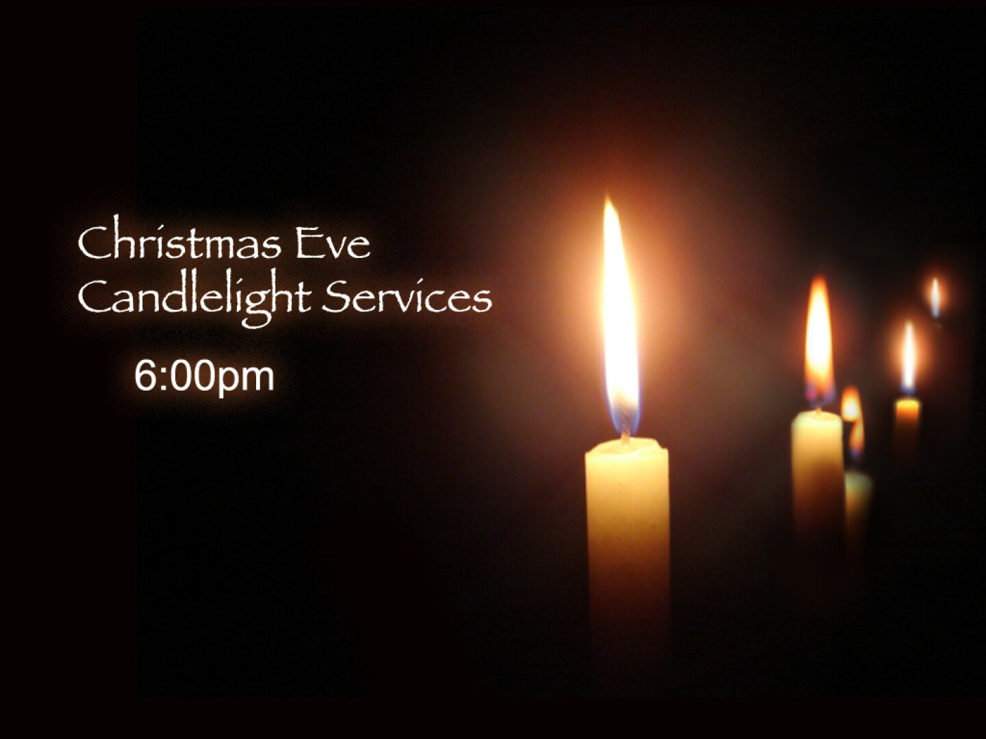 Christmas Eve Candlelight Service - December 24 6:00 PM